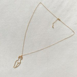 SOLD. Gold Female Body Necklace